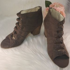 ATTENTION BROWN VEGAN LENA BOOTIES SIZE 10 NWOT